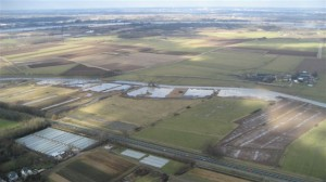Overzicht van gebied met rietmoerassen langs 't Meertje