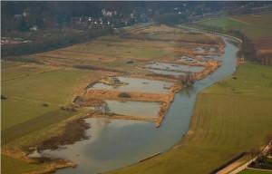 Zicht op de rietmoerassen langs 't Meertje. Foto : Flora-faunawerkgroep Gelderse Poort